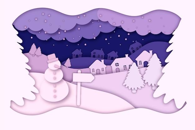 紙のスタイルのクリスマス壁紙
