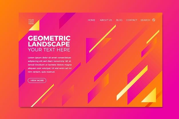 最小限の幾何学的なランディングページテンプレート