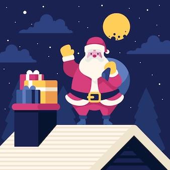 フラットなデザインのクリスマスの壁紙