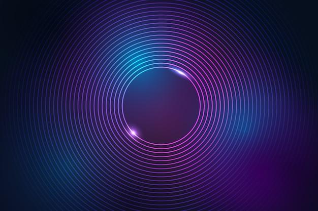 Неоновые линии фон в абстрактном стиле