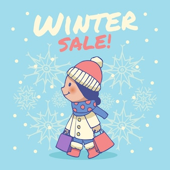 Ручной обращается зимняя распродажа