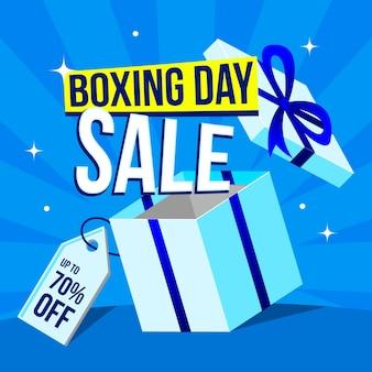 Концепция продажи дня бокса в плоском дизайне