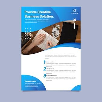 Абстрактный бизнес флаер с фото