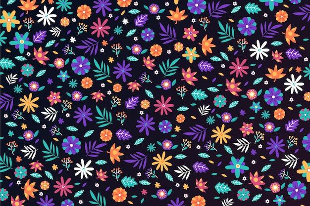 頭が変な花柄の壁紙