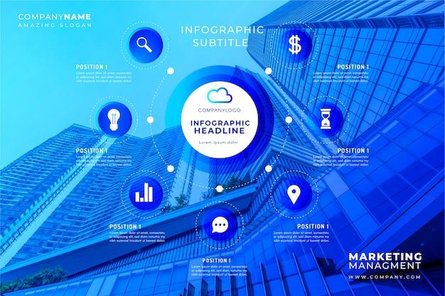 Бизнес инфографики шаблон с изображением