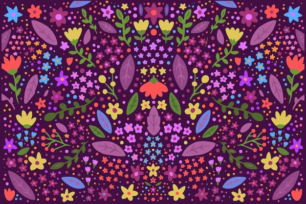 頭が変な色とりどりの花のスクリーンセーバー