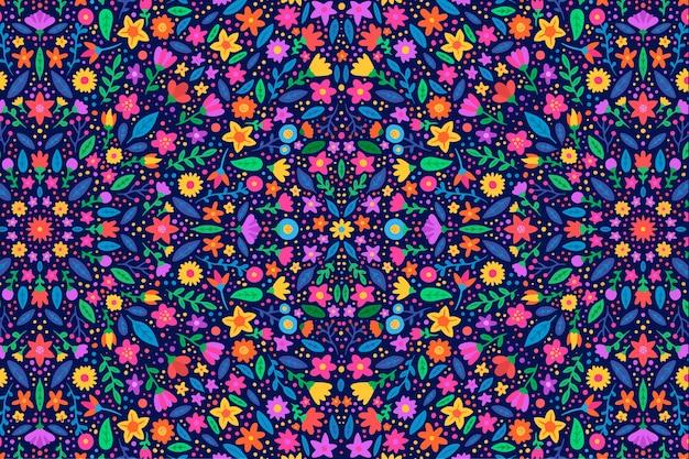 カラフルな花柄の背景