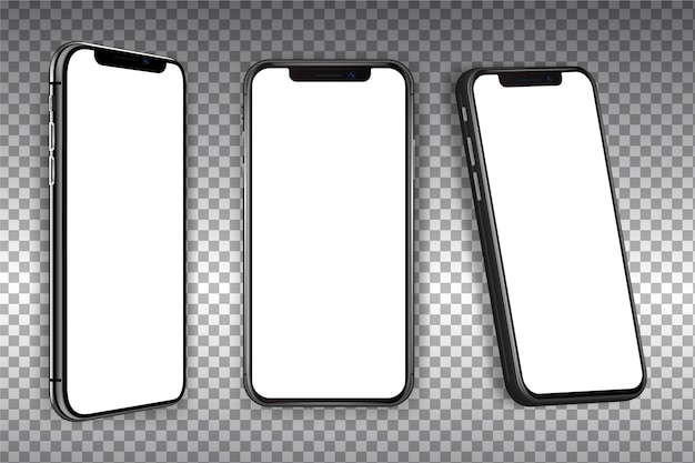 Реалистичный смартфон в разных видах