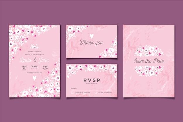 Цветочные свадебные канцтовары