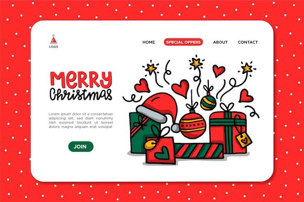 Ручной обращается рождественские подарки целевую страницу