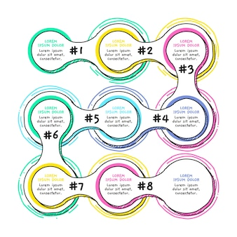 Ручной обращается инфографики шаги шаблон