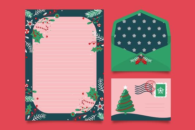 Ручной обращается рождественский шаблон канцелярских товаров