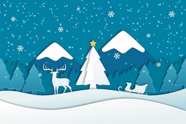 フラットクリスマス背景