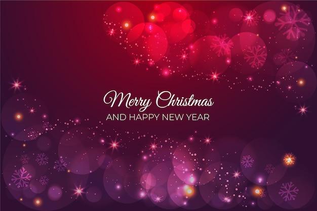 輝くクリスマスの背景