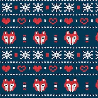 美しいニットクリスマスパターン