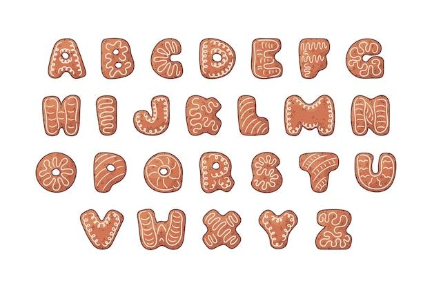 ジンジャーブレッドクリスマスアルファベットパック