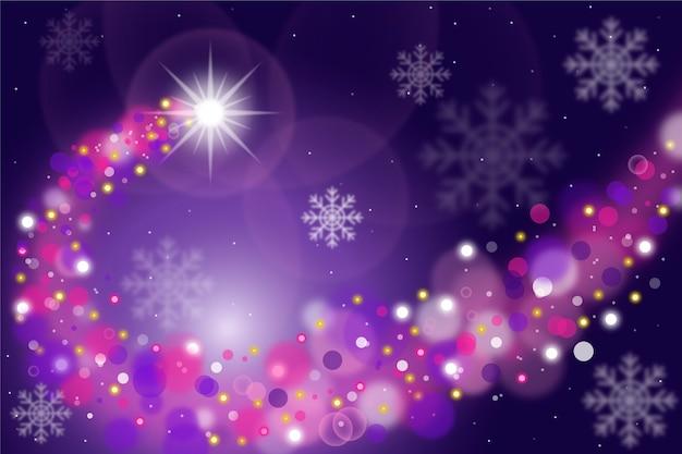 輝く背景とクリスマスコンセプト