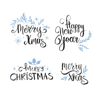 Красивая рождественская надпись