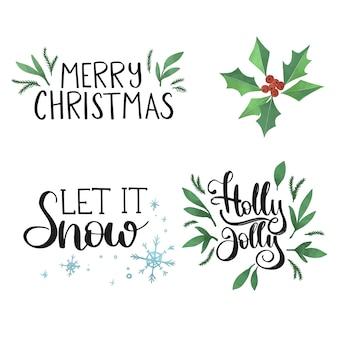 美しいクリスマスレタリング