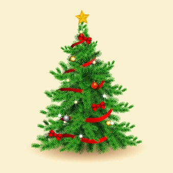 現実的なクリスマスツリーのコンセプト