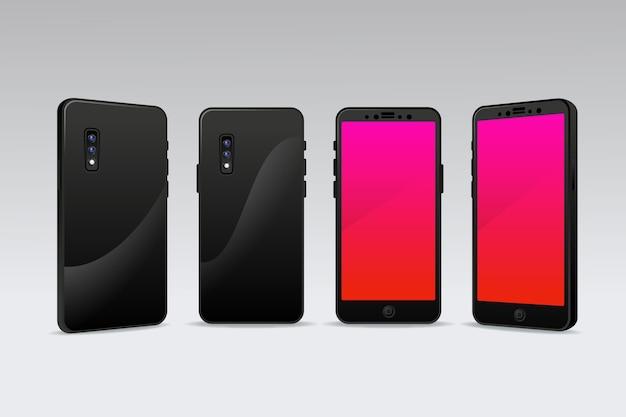 Реалистичный телефон в разных ракурсах