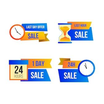 Коллекция баннеров обратного отсчета продаж