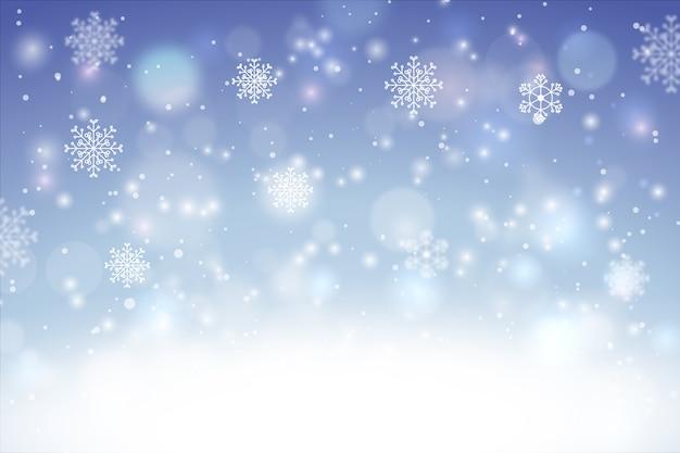 背景をぼかした写真と冬のコンセプト