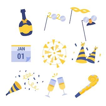 Новогодняя коллекция элементов вечеринки