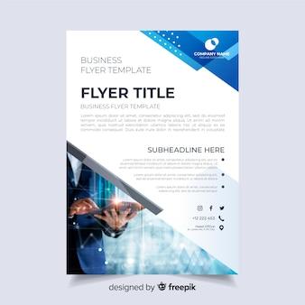 Абстрактный бизнес флаер с изображением