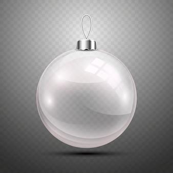 透明な背景にクリスマスボール