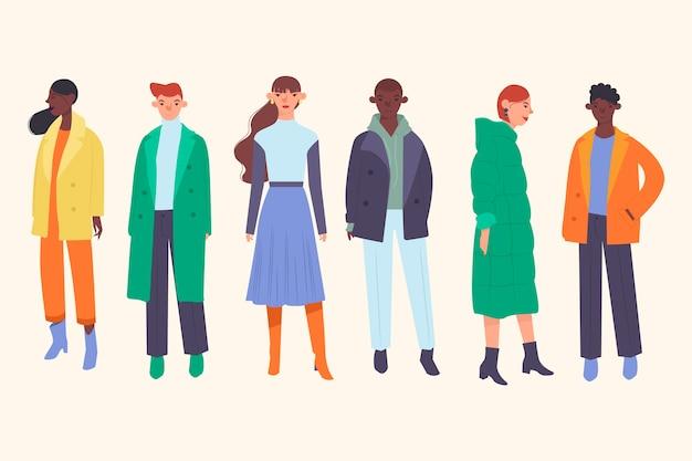 Люди в зимней одежде
