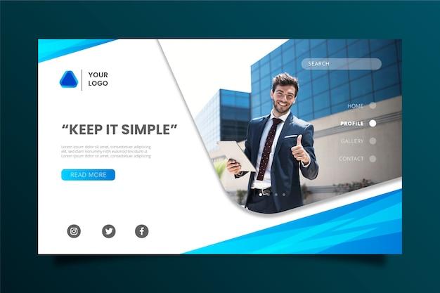 Красочный бизнес шаблон целевой страницы