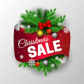 Реалистичные рождественские продажи концепции