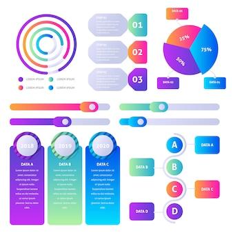 Градиент инфографики элемент пакета