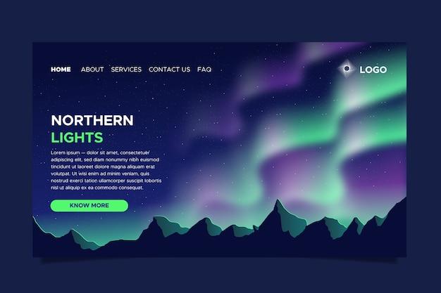 Целевая страница северного сияния