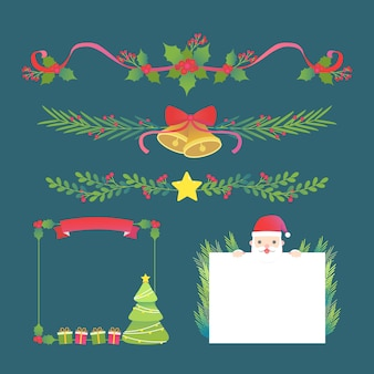 クリスマスフレームとフラットなデザインの境界線