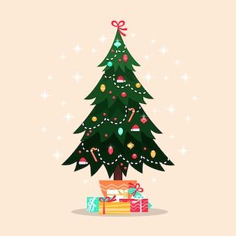 カラフルなビンテージクリスマスツリー