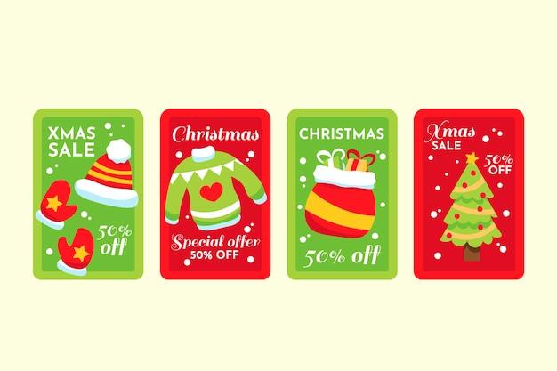 Ручной обращается рождественские продажи тег коллекции