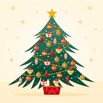 ビンテージクリスマスツリーの背景色