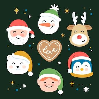 Сборник мультяшных рождественских персонажей