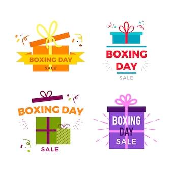 Плоский дизайн коллекции знак продажи день подарков