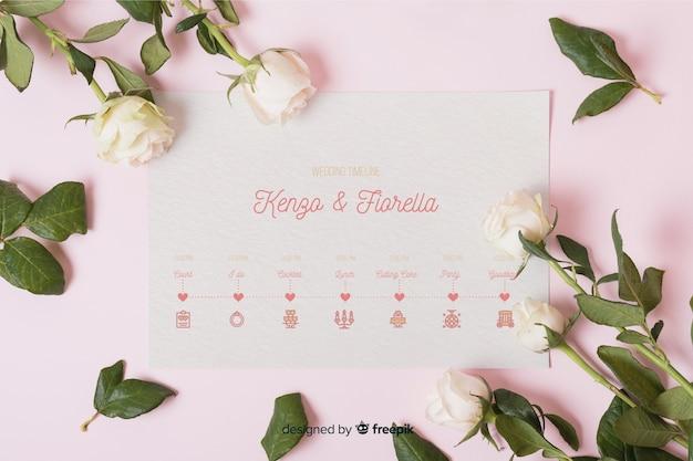 結婚式のアイコンのロマンチックなコレクション