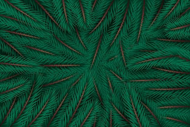 Реалистичные елки ветви фон