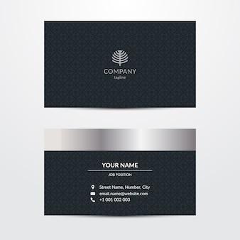 Изысканный шаблон для визитки