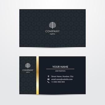 Шаблон визитной карточки шикарный стиль