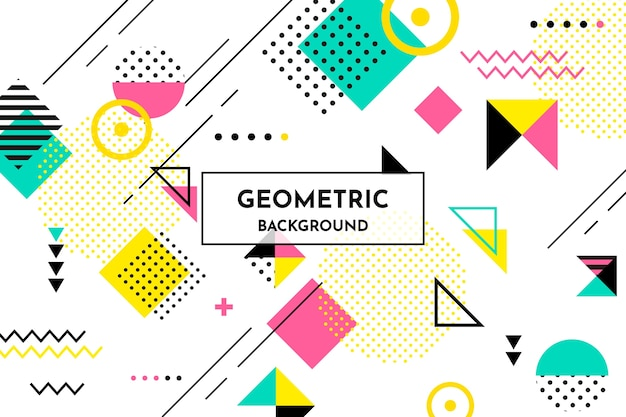Фон плоские геометрические фигуры