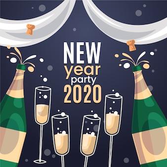 Новый год рисованной фон