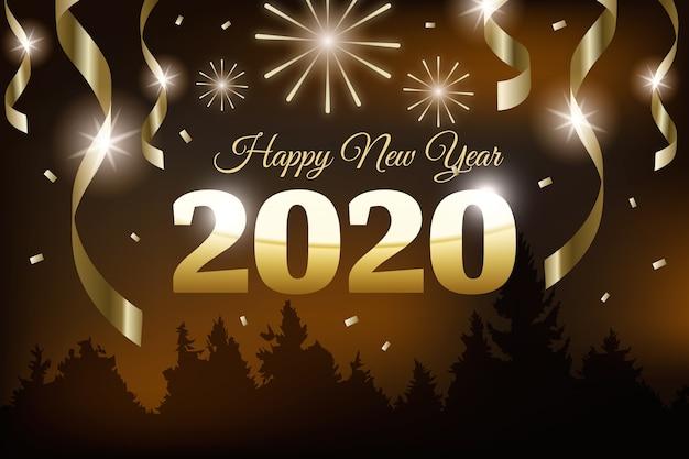 黄金の新年の背景