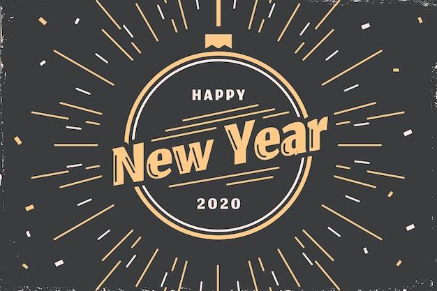 ビンテージ新年の背景