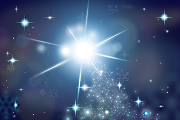 Рождественская концепция с игристым фоном